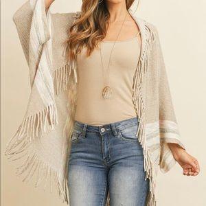 HOST PICK Bohemian fringe shawl
